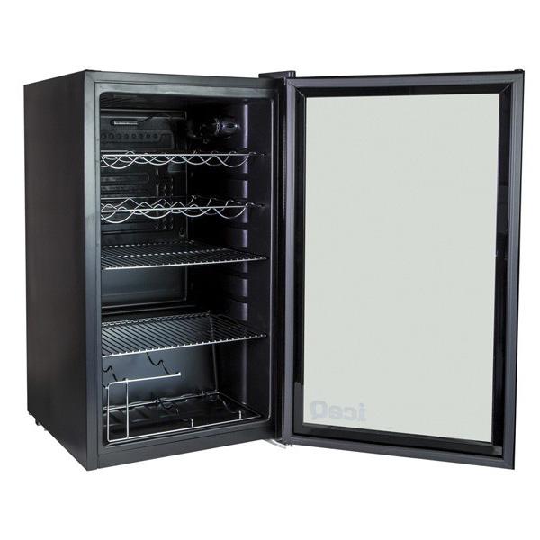 Tuaca Light Up Two Bottle Refrigerated Liquor Shot Chiller: IceQ 93 Litre Under Counter Glass Door Display Fridge