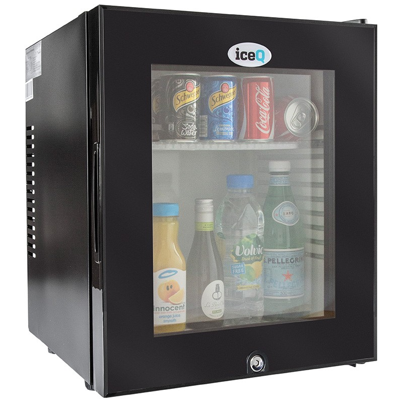 Iceq 24 Litre Glass Door Mini Bar Black
